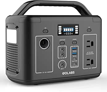 GOLABS i200 200W Portable Power Station, 256Wh 80000mAh Silent Lithium-ion Rechargeable Battery Pack with 2QC3.0 USB-A/18W, 1TypeC/30W, 1PD 60W, 2DC/120W, 1DC car port/120W for Camp Emergency (Black)