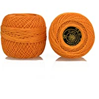 Embroiderymaterial Crochet Cotton Thread Size 40 for Weaving, Knitting and Embroidery Craft, 1 Ball, 200 Mtr of 100% Cotton Threads per roll, Factory Made Thread consistent in Color and Quality