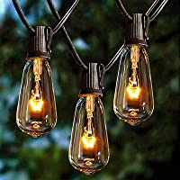 Afirst Outdoor String Lights 20FT with 22 Edison Bulbs Vintage Bistro Lights Waterproof ST40 String Lights for Patio…