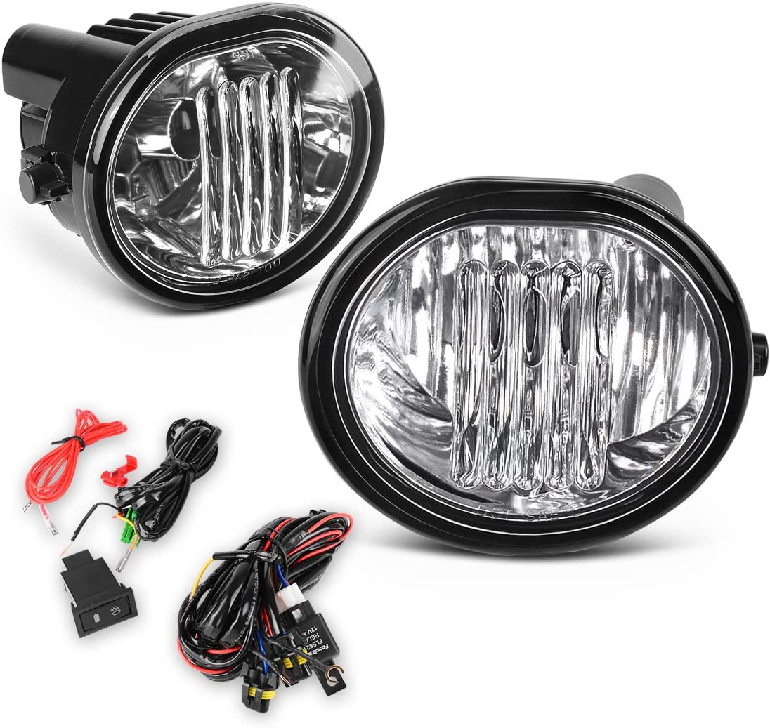 04-10 Scion TC One Pair of Right and Left Clear Glass Lens Fog Lamps AUTOSAVER88 Fog Lights 9006 12V 51W Halogen Lamp for 03-08 Toyota Matrix// 03-08 Pontiac Vibe