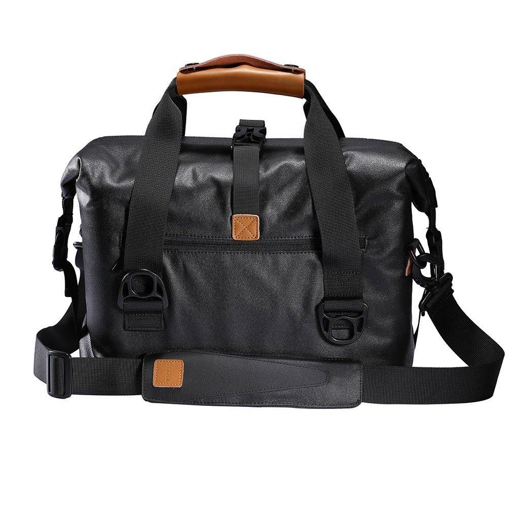 Shoulder Messenger Bag Waterproof DSLR SLR Digital Camera Bag Case Shockproof Backpack Profession Travel Photography Bag Gadget Organizer (Balck)