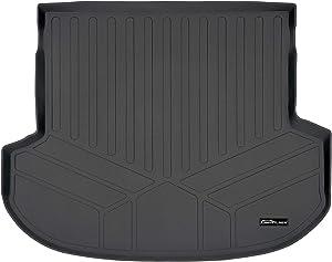 SMARTLINER All Weather Custom Fit Cargo Liner Trunk Floor Mat Black for 2019-2021 Hyundai Santa Fe 5 Passenger Models