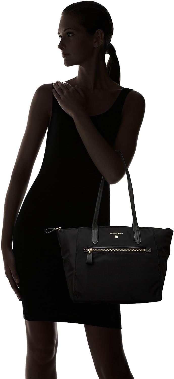 45c02b5d2d5b Amazon.com: MICHAEL Michael Kors Women's Nylon Kelsey Medium Top Zip Tote -  Black: Shoes