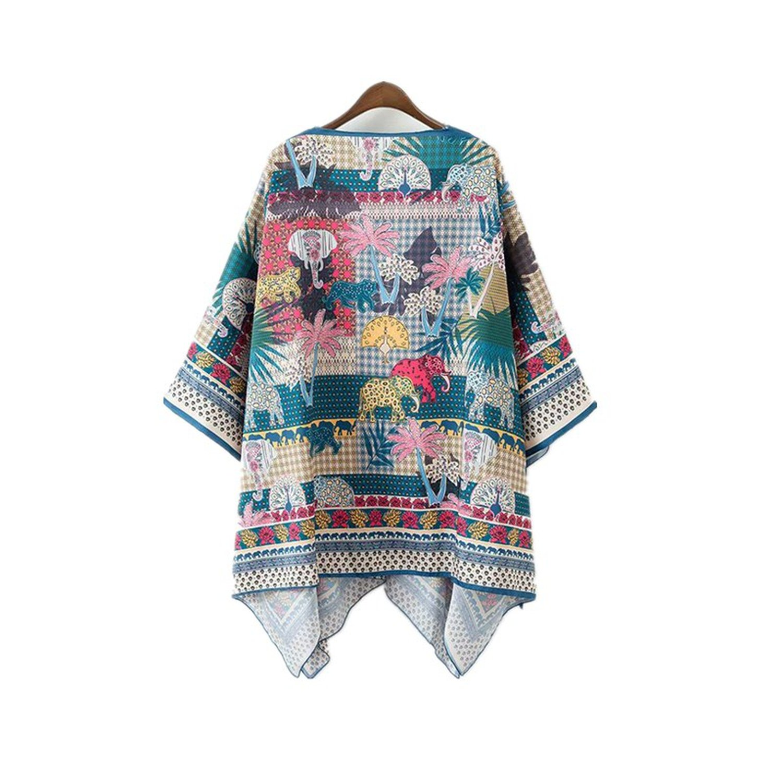Amazon.com: Chaqueta para mujer Boho Kimono Cardigan floral ...