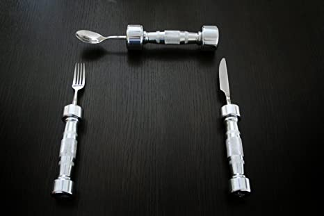 Amazon.com: Eat Fit Dumbbell Cutlery: Kitchen & Dining
