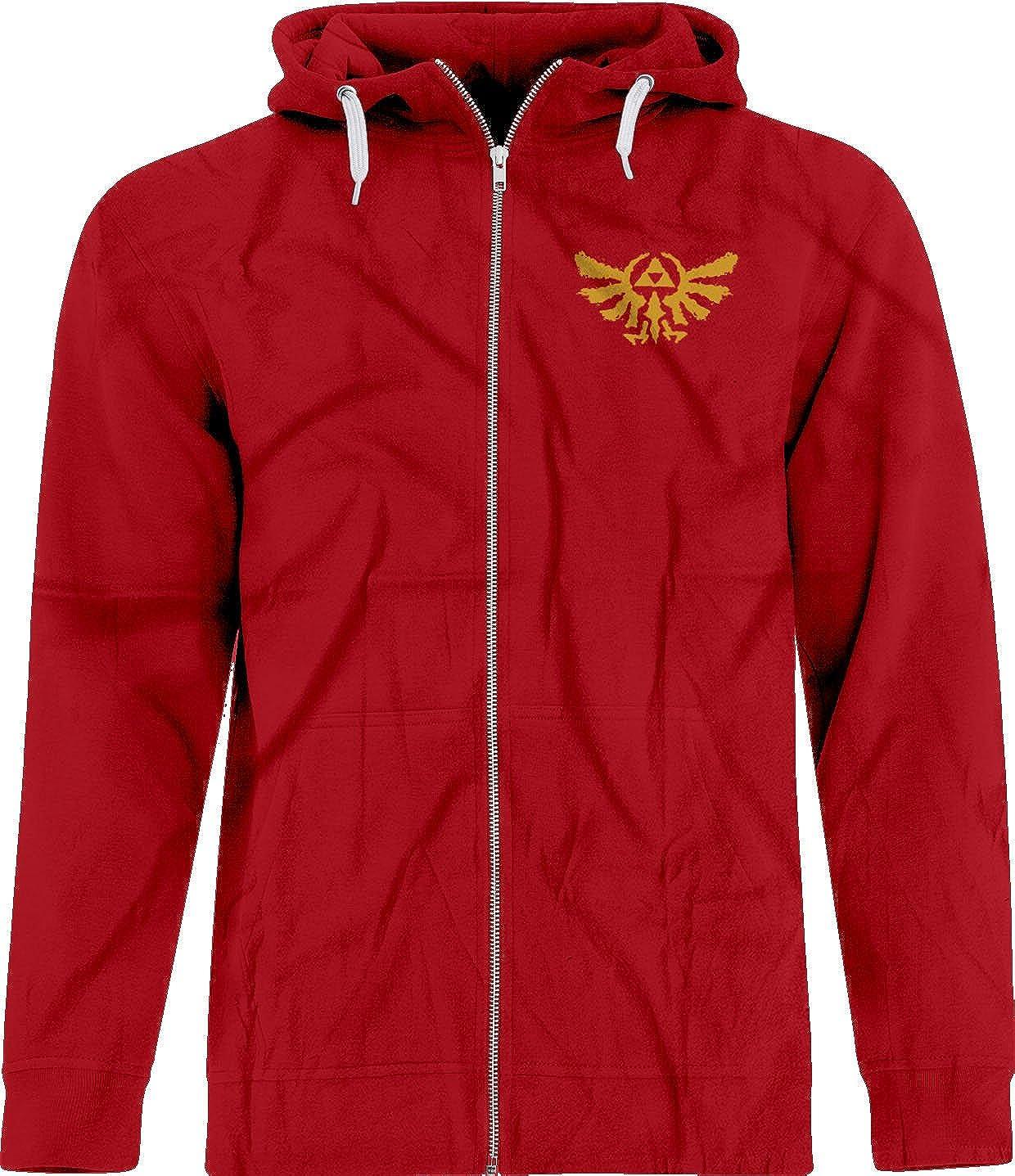 BSW Men's Rorschach Zelda Triforce The Golden Power Crest Zip Hoodie 1246-1HPZC
