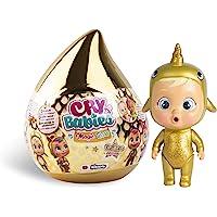 Bebés Llorones Lágrimas Mágicas Casita Dorada (Golden Edition)- Mini bebé llorón sorpresa coleccionable con lágrimas y…