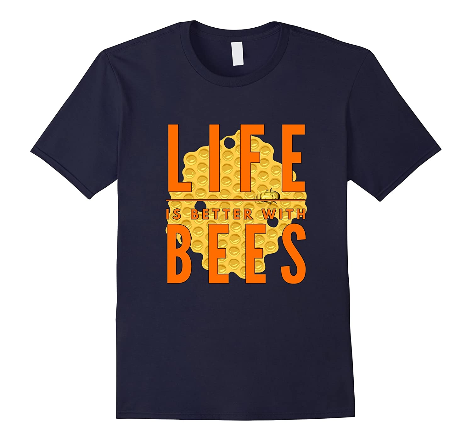Life is Better With Bees at the farm funny gift t-shirt