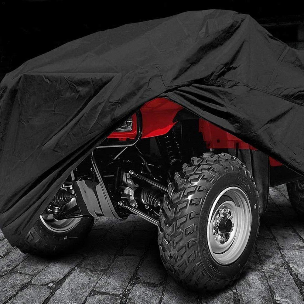 Nero Rilegabile Telo Protettivo per MTB Quad Moto Kart Moto Kart Moto Impermeabile Anti-UV L XL XXL Falliback