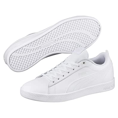 Puma Smash WNS V2 White, Baskets Basses Femme