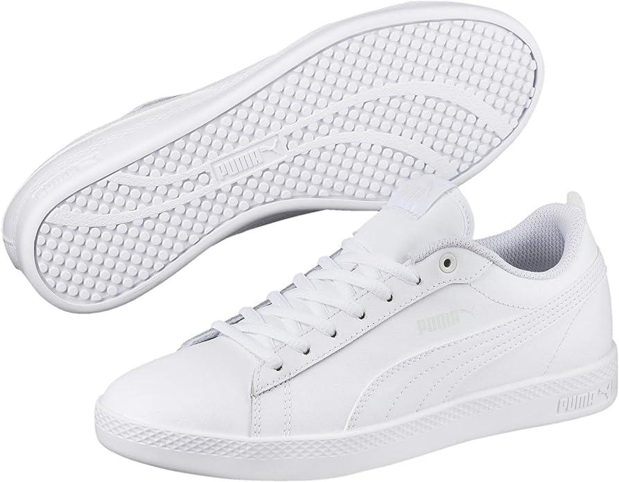 Puma Smash V2 L Sneakers Damen komplett weiß
