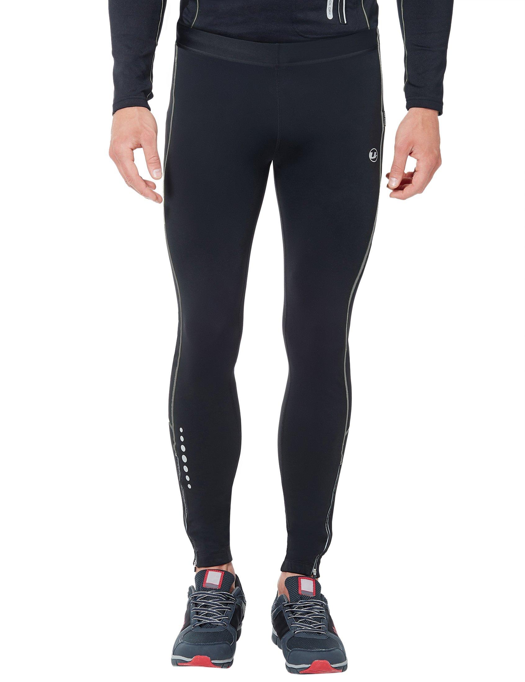 Ultrasport Pantalones largos de correr para hombre, con efecto de compresión y función de secado