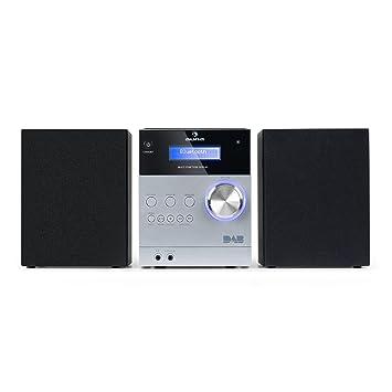 auna MC-20 DAB Minicadena - Equipo estéreo hi-fi , 2 vías , Potencia de salida: 2x5W , Bluetooth , Pantalla LCD , Sintonizador digital DAB(+) , ...