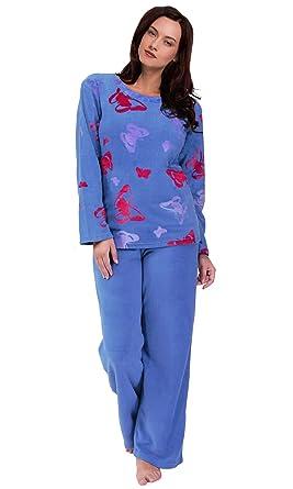 a61d15be096a7 Womens Chaud Polaire Hiver PJ Pyjama Ensemble de Nuit Wear PJ Pyjama de  Définit pour Femme. Passez la ...