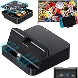 GuliKit - Base de TV de bolsillo para Nintendo Switch, protocolo PD evita ladrillos, Hyper Trans para proyección 1080P/2K/4K,