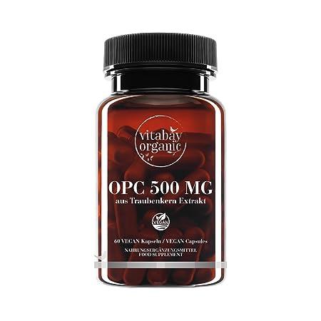 OPC 500 mg altas dosis – a partir de la Extracto de Semillas de Uva – Cápsulas veganas: Amazon.es: Deportes y aire libre