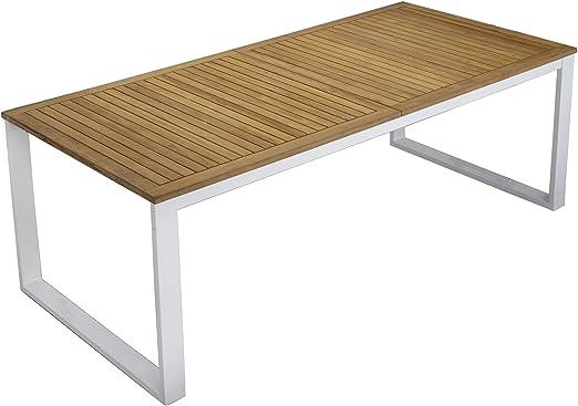 Alinéa Colombe Table à allonge Papillon en Aluminium et Teck ...
