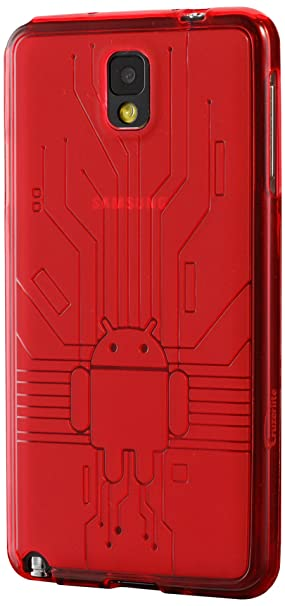 Cruzerlite - Carcasa para Samsung Galaxy Note 3, diseño de circuito y muñeco Android