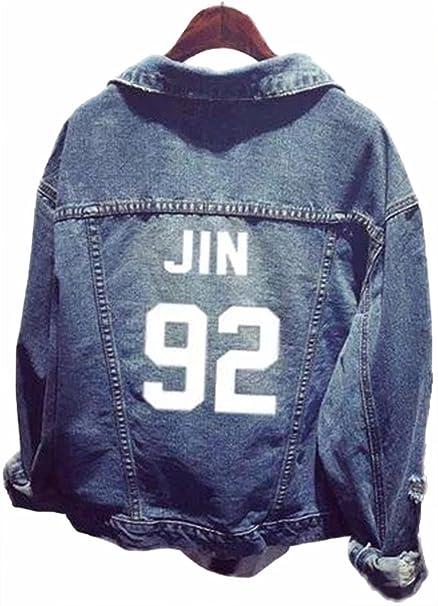 SERAPHY Unisex BTS Sudadera Ropa BTS Chaqueta de Mezclilla para Army Suga Jin Jimin Jung Kook J-Hope Rap-Monster V 92: Amazon.es: Ropa y accesorios