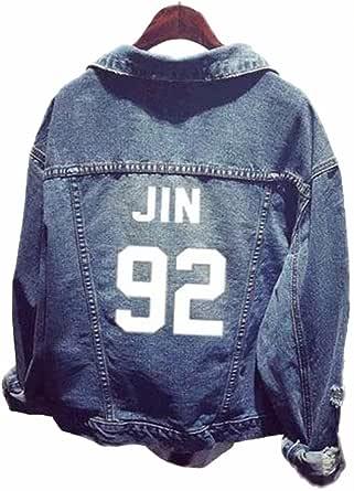 SERAPHY Unisex Sudadera Ropa Chaqueta de Mezclilla para Army Suga Jin Jimin Jung Kook J-Hope Rap-Monster V