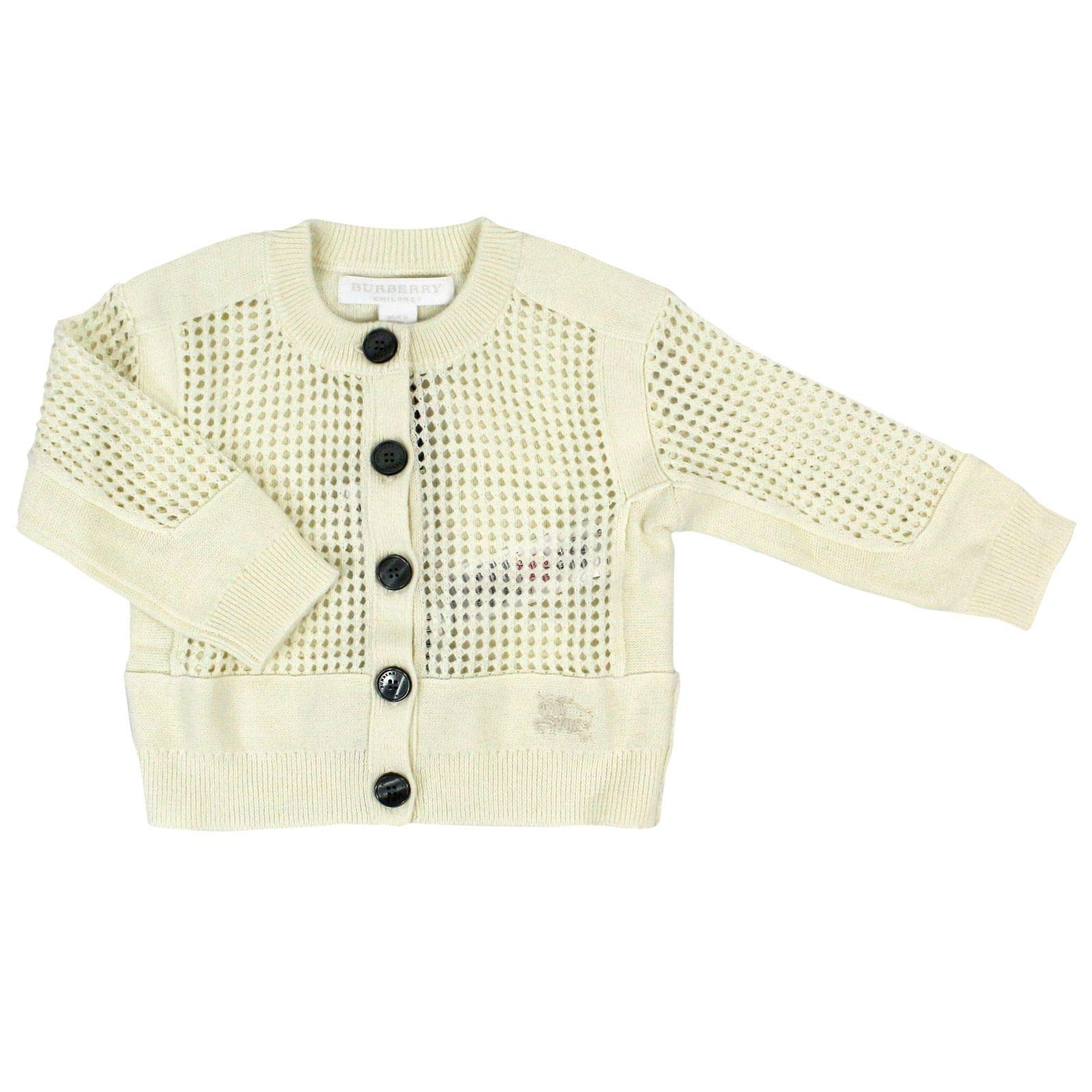 BURBERRY Luxury Fashion Baby-Girls Cardigan Summer White by BURBERRY