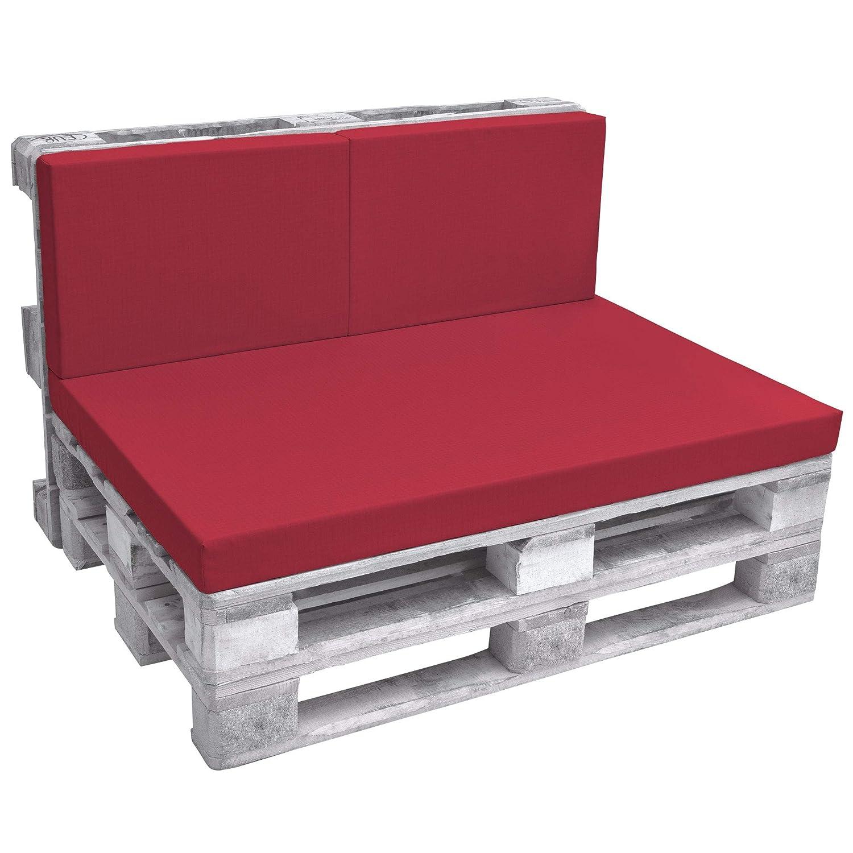 Beautissu Cuscino spalliera per divani con bancali - ECO Pure 120x40x8cm - per divanetti e panche da giardino - beige