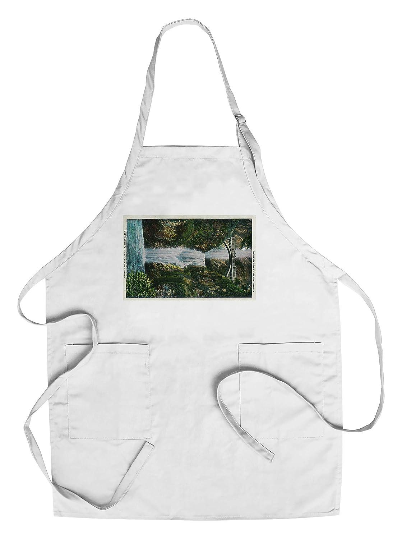 Multnomah Falls onコロンビア川 Chef's Apron LANT-2225-AP B018BTDBT8  Chef's Apron