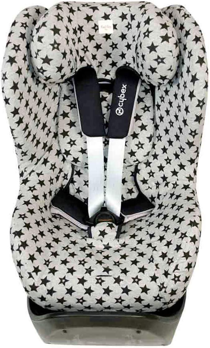 F132//9099 Estampado Baby Bat Funda de Algod/ón para Silla de Coche Cybex /® Sirona /® M2 I-Size Fundas BCN /® Sirona /® S I-Size y GB Vaya /® I-Size