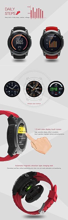 Amazon.com: GPS Watch Nano SIM card Bluetooth Mens Sport ...