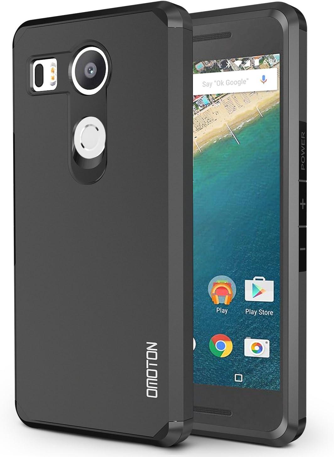 Funda LG Nexus 5X OMOTON Carcasa para Nexus 5X[Color de Negro ...