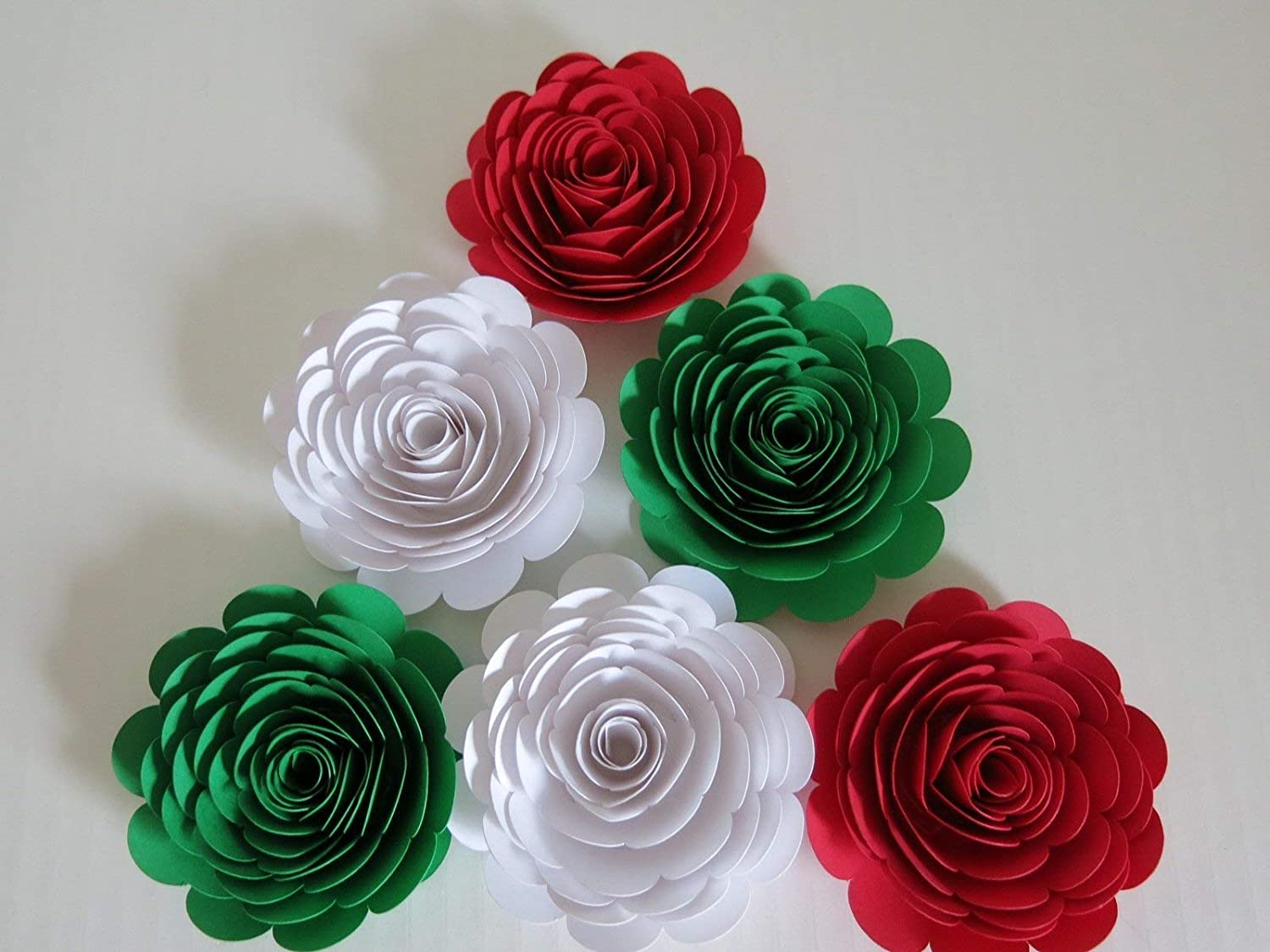 Paper Flower CENTERS set of 12 choose color and size