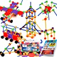 STEM Master 176 Piece STEM Learning Educational Construction Building Toy Gift Set for Boys and Girls Ages 3 4 5 6 7 8 9 10 Year Old Kids - Engineering Science Blocks Kit - Top Best Creative Birthday