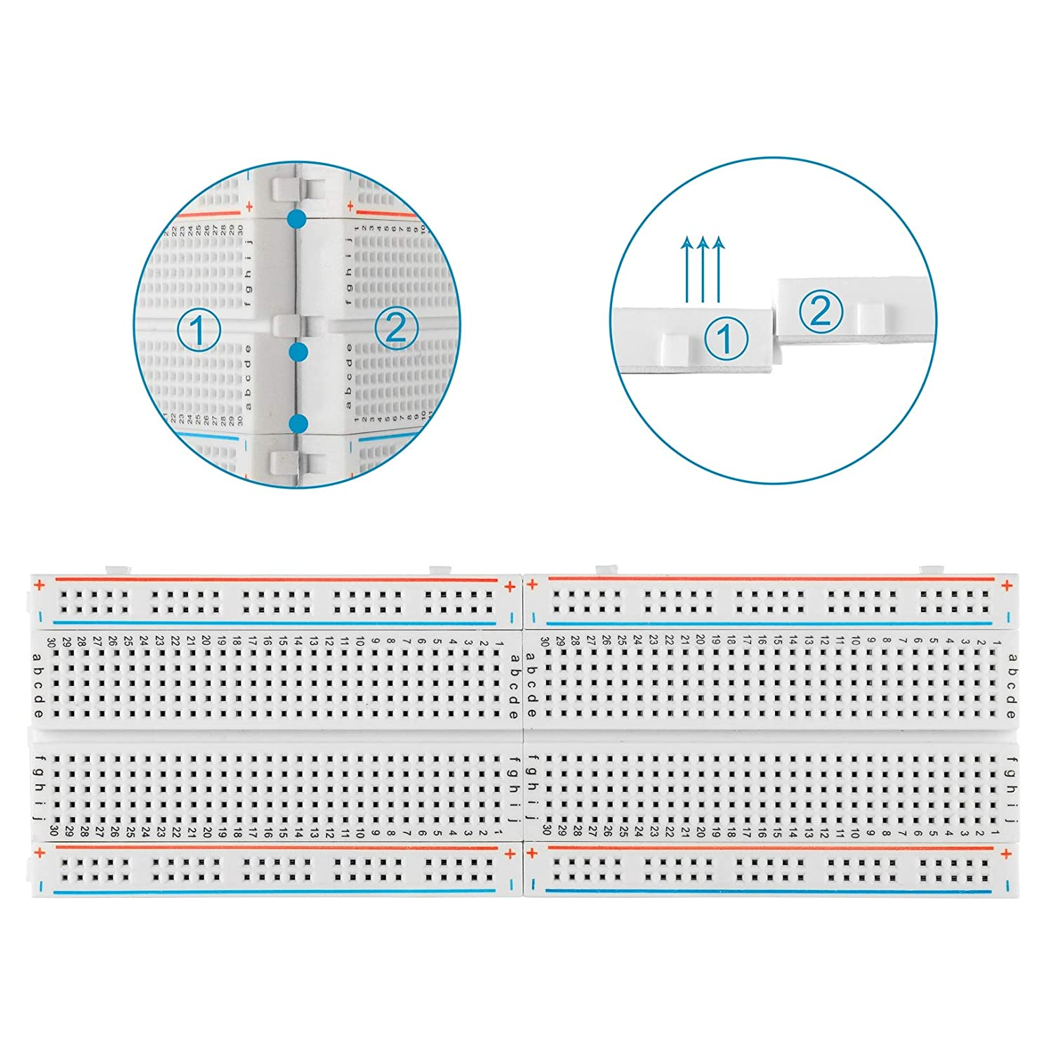 Solderless Breadboard Jumper Wires Set Alldrei Bj 001 400 Pin And Prototyping Wiring Kits Kit With 830