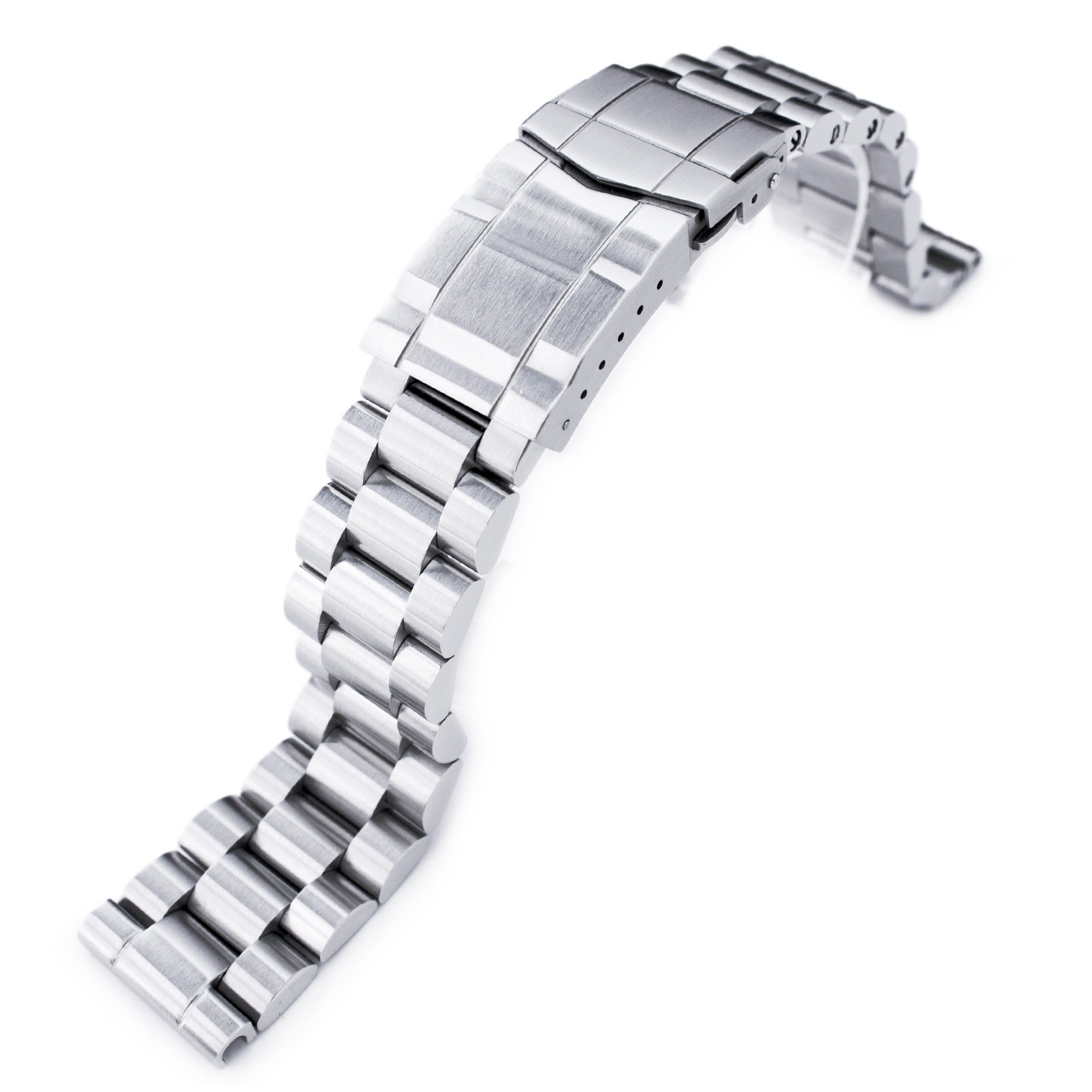 20mm Endmill Solid 316L Stainless Steel Watch Bracelet, Straight End, Submariner Clasp