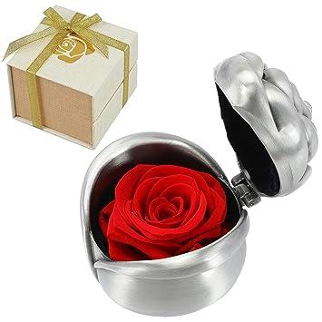 Amazon.com: Rosas rojas, hechas a mano, regalo de rosa ...