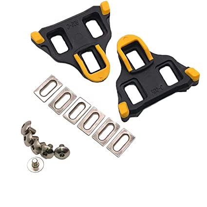 c67c69466fca3 Thinvik Road Bike Cleats 6 Degree Float Self-locking Cycling Pedals Cleat  For Shimano SH-11 SPD-SL System Shoes