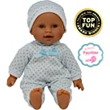 11 inch Soft Body Hispanic Newborn Baby Doll in Gift Box - Doll Pacifier Included