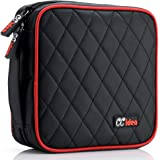 CCidea 40 Capacity CD/DVD Case Holder Portable Disc Wallet Storage Binder Nylon Cd Bag (Black)