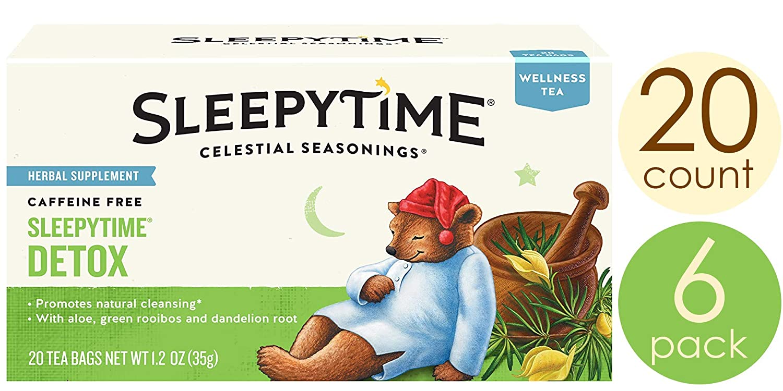 Celestial Seasonings Wellness té, Sleepytime Detox, 20 Count ...