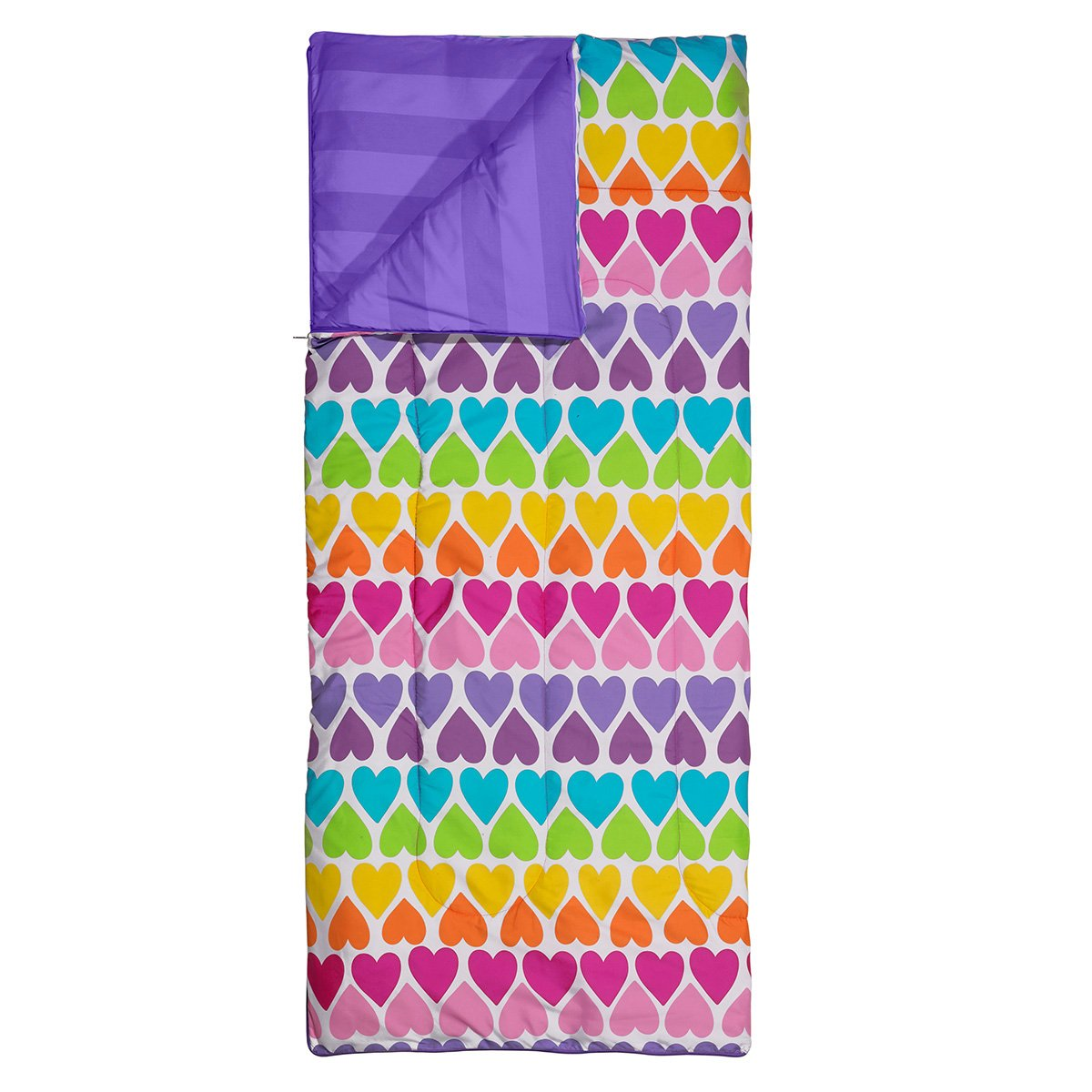 3C4G Rainbow Hearts Reversible Sleeping Bag