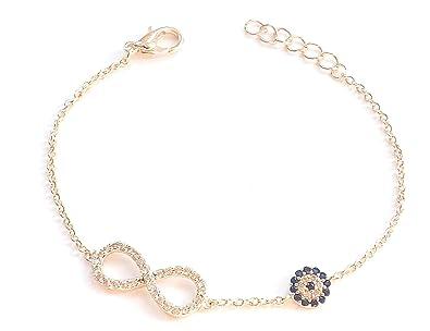 Remi Bijou Armband Armkette Infinity Unendlichkeit Liebe Rosegold Auge Nazar ef04e46599