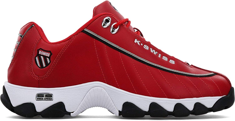 K-Swiss Men's ST329 Athletic Sneaker Red/Black/Silver/Tape