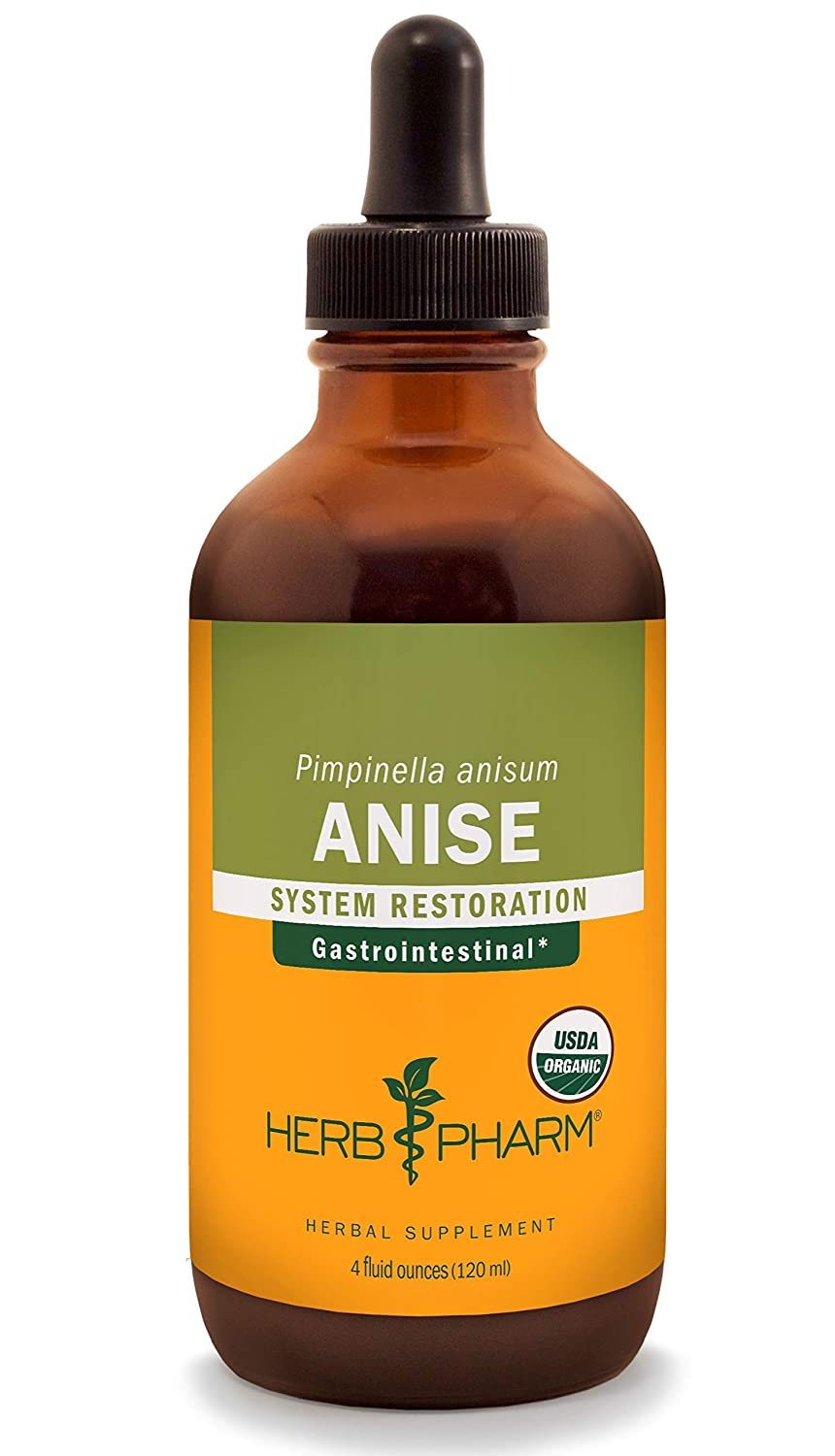 Herb Pharm Certified Organic Anise Liquid Extract for Digestive Support – 4 Ounce