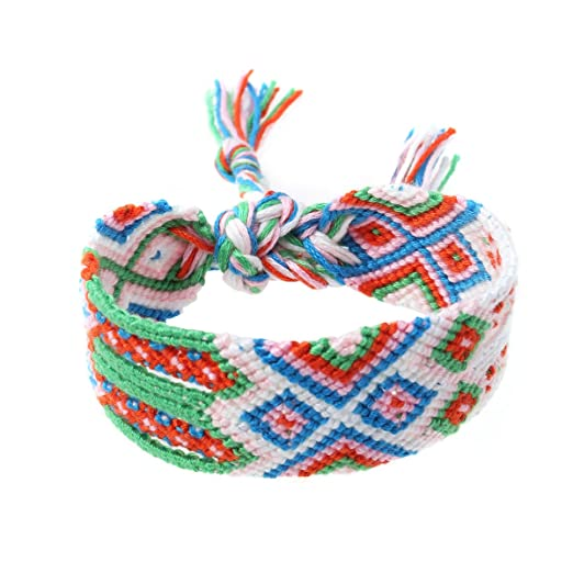 f6253b6a09d434 Amazon.com: FENICAL Handmade Braided Bracelet Boho Nepal Ethnic ...