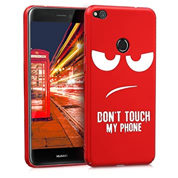kwmobile Funda para Huawei P8 Lite (2017) - Carcasa [Trasera] Protectora para móvil - Cover Duro con diseño Dont Touch my Phone