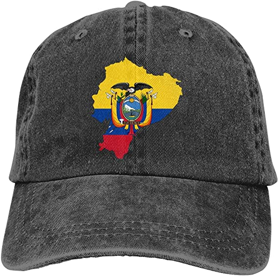 KLING Gorra de béisbol para Unisex, Mapa de la Bandera de Ecuador Moda Algodón: Amazon.es: Ropa y accesorios