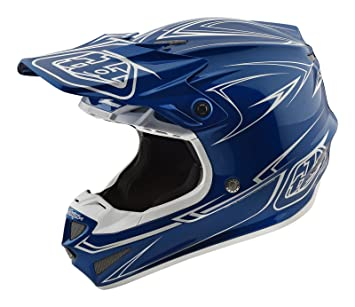 2018 Troy Lee Designs SE4 MIPS casco Moto Cross Infantil Poly de rayas azul XS