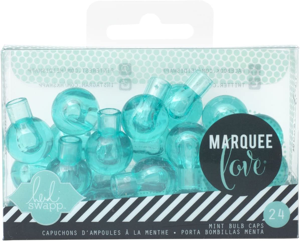 American Crafts 24 Bulb Accessories with Extra Bulb Covers Teal