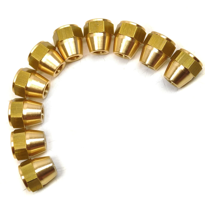 Raccords de tuyaux de frein laiton x 20 7/16' UNF femelle 10 PACK pour tuyau 1/4' FL16 AB Tools