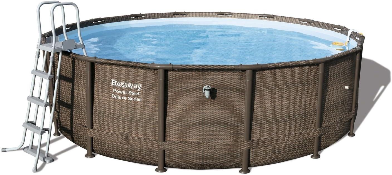 Bestway Power Steel Deluxe Series Pool Set 488 x 122 cm, Marco de ...